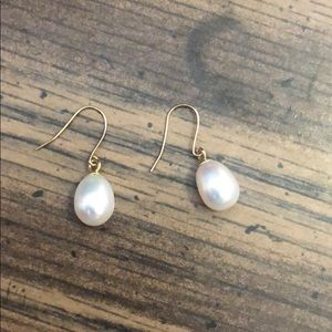 Beautiful Pearl Earrings with Gold posts